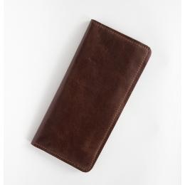 Тёмно-коричневое вертикальное портмоне E.K.GOODS