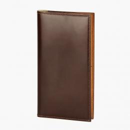Коричневый вертикальный бумажник HOOF из кожи Abrasivato
