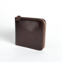 Тёмно-коричневый кошелек на молнии IL BUSSETTO
