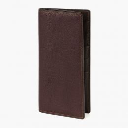 Бордовый вертикальный бумажник PJ LEATHER
