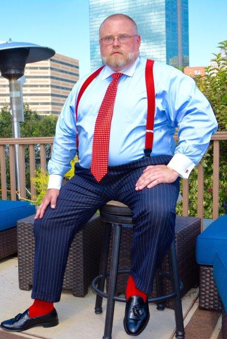 Подтяжки галстук носки красного цвета