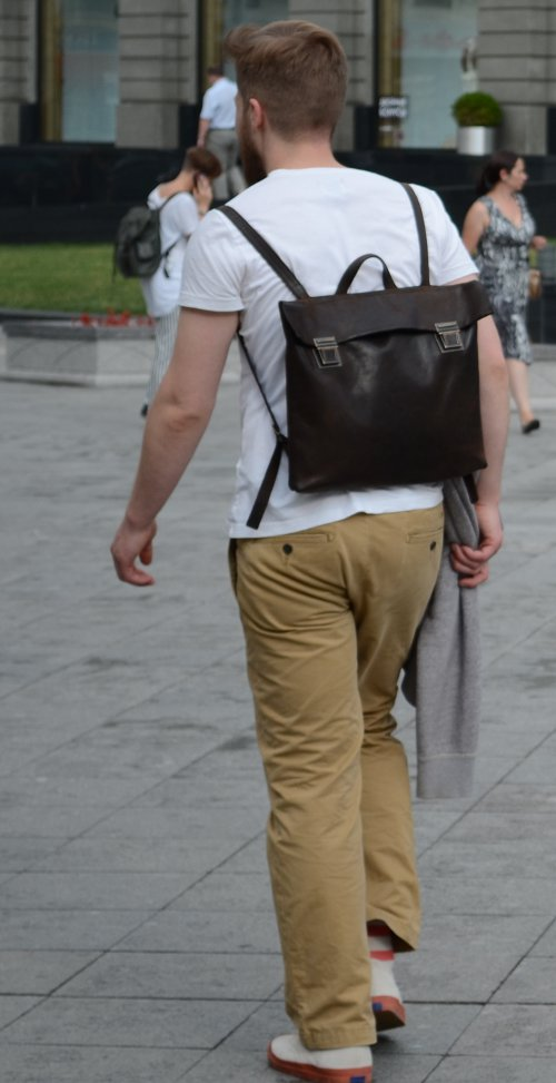 Кожаный рюкзак для города